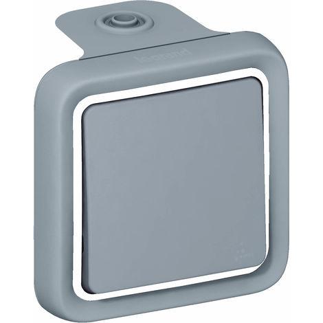 Interrupteur va-et-vient Plexo IP55 saillie 10AX 250V - gris
