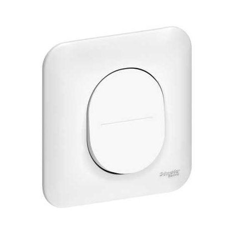 Interrupteur/va et vient/poussoir - Schneider Ovalis Blanc - saillie ou encastré - SCHNEIDER