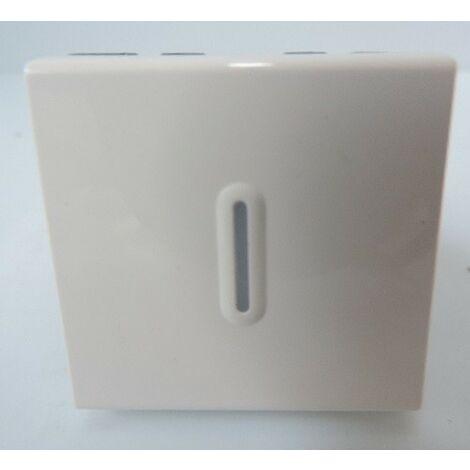 Interrupteur Va-et-Vient Témoin blanc (Voyant incl) 2 Modules Mosaic sans support ni plaque LEGRAND 099615
