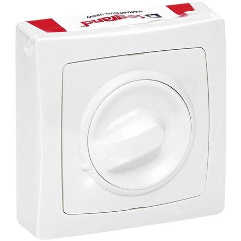 """main image of """"Interrupteur variateur à bouton rotatif Appareillage Saillie - 300W - Blanc"""""""
