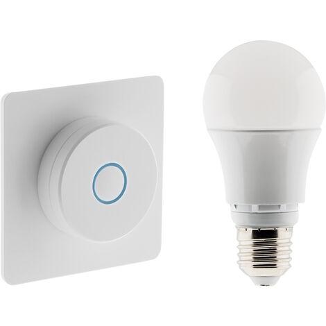 Interrupteur variateur avec ampoule LED connectée Bluetooth E27 9W - Otio