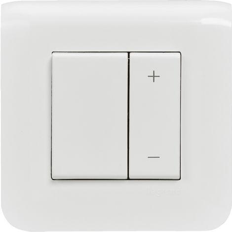 """main image of """"Interrupteur variateur Mosaic 600W - Complet - Avec griffes - Blanc - Legrand"""""""