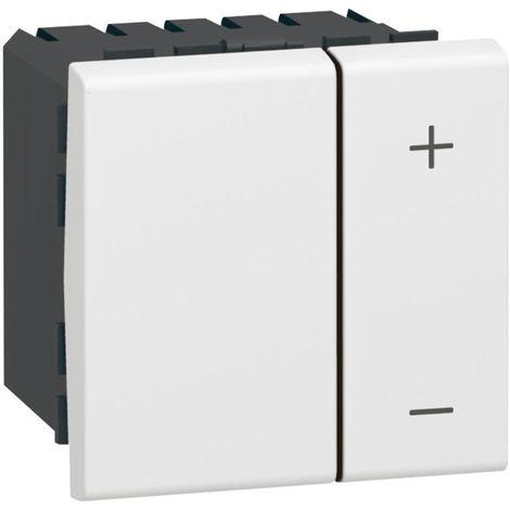 Interrupteur variateur toutes lampes 2 fils Mosaic 2 modules - blanc - Legrand