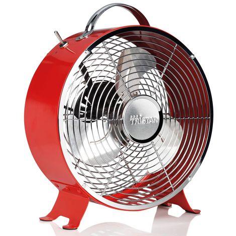 Interrupteur ventilateur rétro à 2 étages Poignée ventilateur ventilateur Tristar VE-5963 rouge
