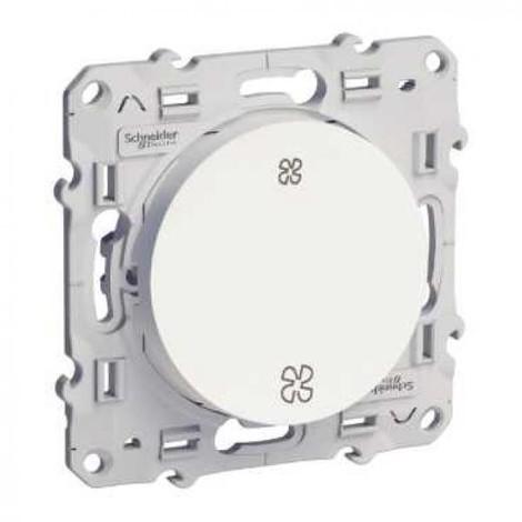 Interrupteur VMC Odace à vis - Sans position arrêt - Blanc - Schneider Electric