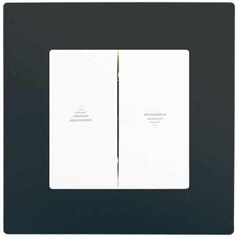 Interrupteur Volet Roulant Blanc Delta Viva + Plaque Anthracite - SIEMENS