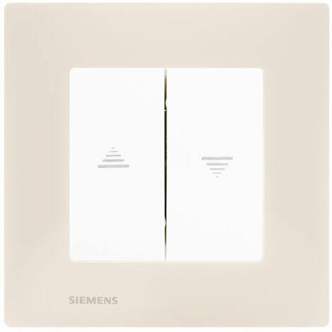 Interrupteur Volet Roulant Blanc Delta Viva + Plaque Beige - SIEMENS