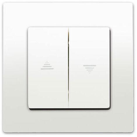 Interrupteur Volet Roulant Blanc Delta Viva + Plaque Blanc - SIEMENS