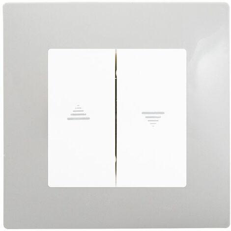 Interrupteur Volet Roulant Blanc Delta Viva + Plaque Gris - SIEMENS