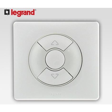 "main image of ""Interrupteur volet roulant store Legrand celiane complet blanc"""