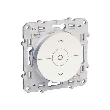 Interrupteur volets roulants 3 boutons Montée / descente / Stop Blanc Schneider Electric Odace