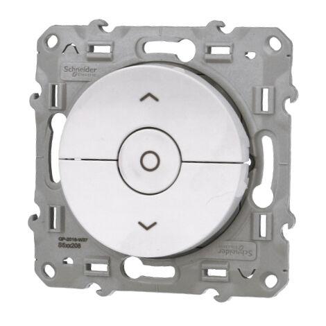 Interrupteur volets roulants 3 boutons Montée / descente / Stop - Schneider Odace - Blanc OU Alu