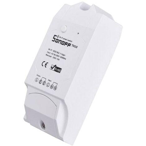 Interrupteur WiFi pour Capteur de Température et d'Humidité SONOFF TH10 V1 Blanc - Blanc