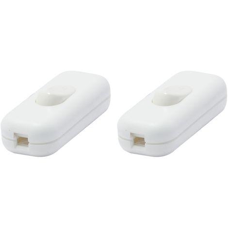 Interrupteurs de passage unipolaires - Blanc (2pcs)