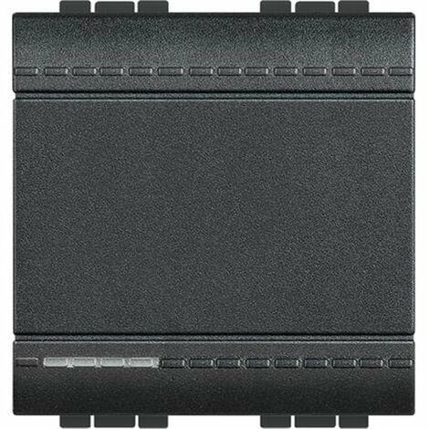 Interruptor ancho Bticino serie Livinglight L4001M2A antracita