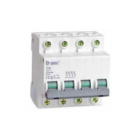 Interruptor automático 4P 25A curva C GSC 0403665