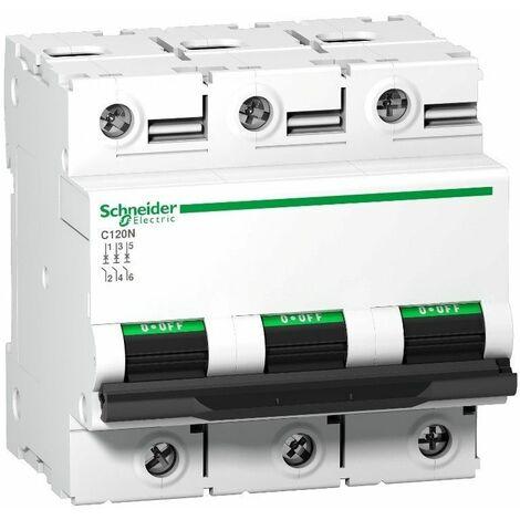 Interruptor Automatico C120N 3P 80A Schneider Curva C A9N18365