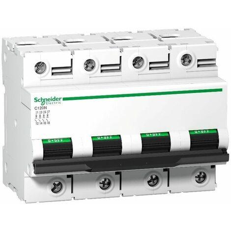 Interruptor Automatico C120N 4P 125A Schneider Curva C A9N18376