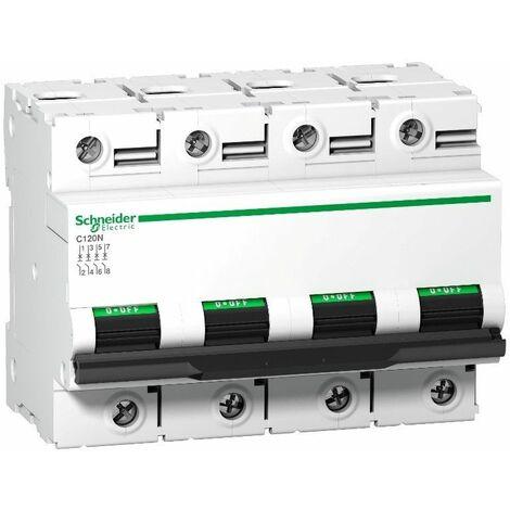 Interruptor Automatico C120N 4P 80A Schneider Curva D A9N18391