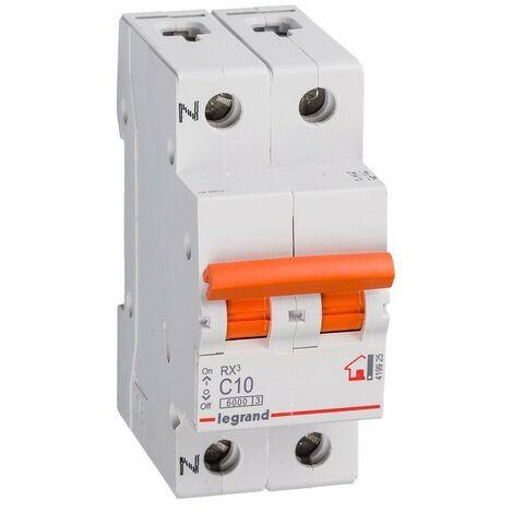 Interruptor Automático Magnetotérmico 1P+N 10A Legrand RX3 Vivienda