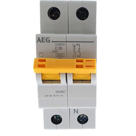 Interruptor automático MAGNETOTERMICO 1P+N 20A