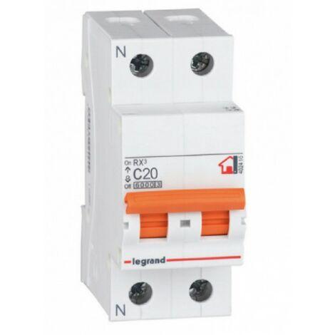 Interruptor Automático Magnetotérmico 1P+N 20A Legrand RX3 Vivienda