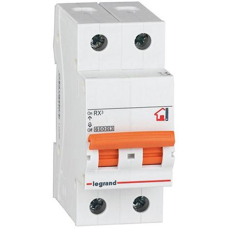 Interruptor automático magnetotérmico 2 polos 16A (Legrand 419935)