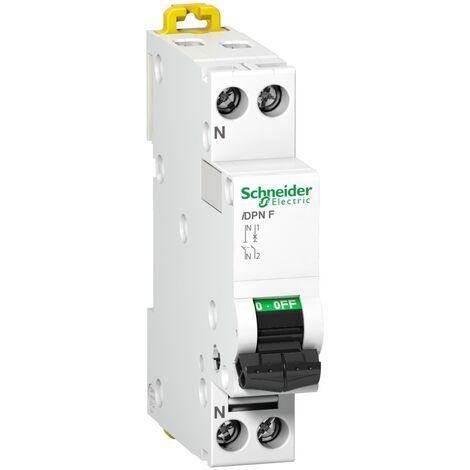Interruptor automatico magnetotermico - iDPN F - 1P + N Blanco 6 A