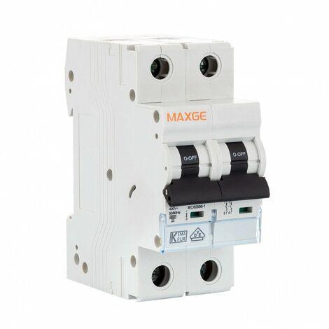 Interruptor Automático Residencial 2P 25A Curva C 6KA Gris | IluminaShop