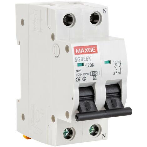 Interruptor Automático Residencial MAXGE 1P+N-6kA 6-40A