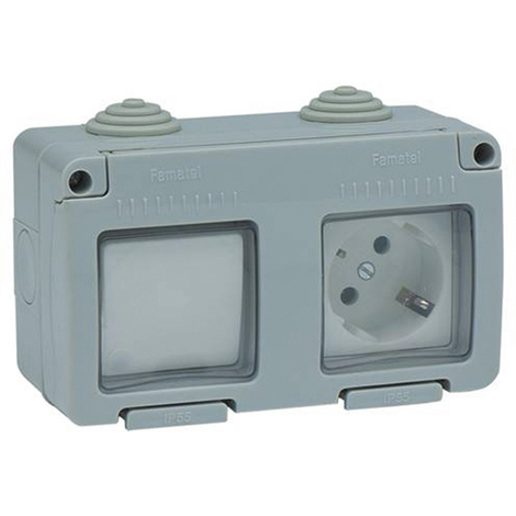 Interruptor Base Tt estan Ip55 - FAMATEL - 19033 - 16 AMP