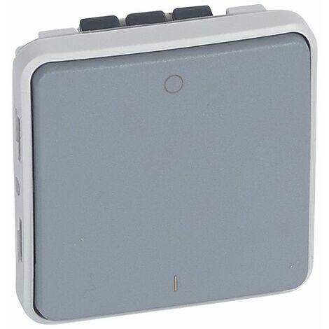 Interruptor bipolar componible gris Legrand Plexo 069527