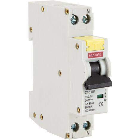 Interruptor Combinado DPN (Automático + Diferencial) MAXGE 1P+N-6kA