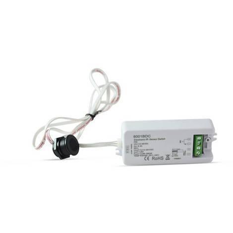 Interruptor con sensor de proximidad IR 12-36V para puertas de armario
