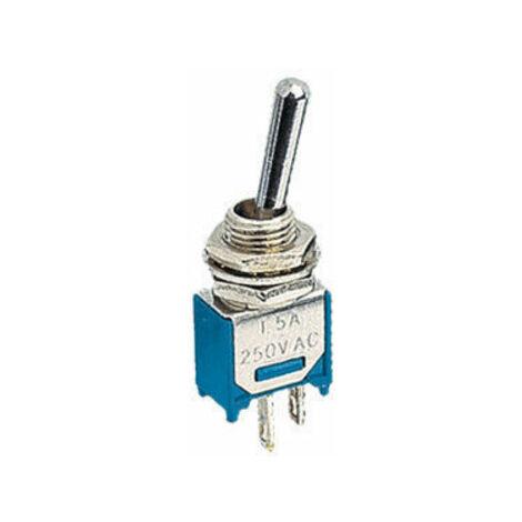 Interruptor Conmutador bipolar miniatura a palanca. 3 Terminales sellados con epoxy Electro DH 11.442.I/C 8430552094691