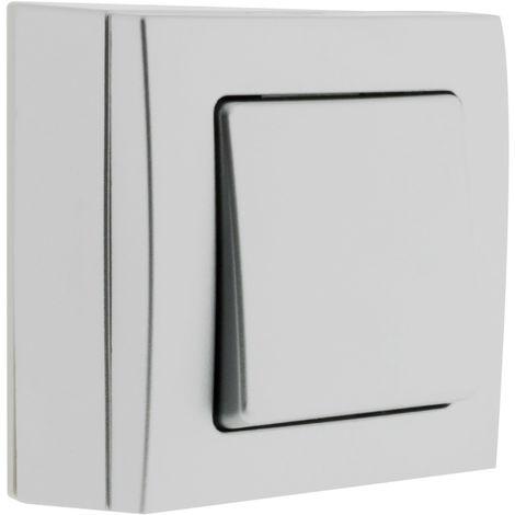 Interruptor/Conmutador de superficie Silver - Bel'Vue