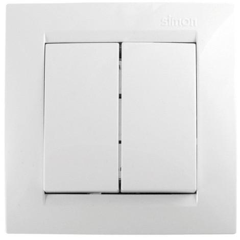 Conmutador Empotr Blanco Doble - SIMON - F1590397030