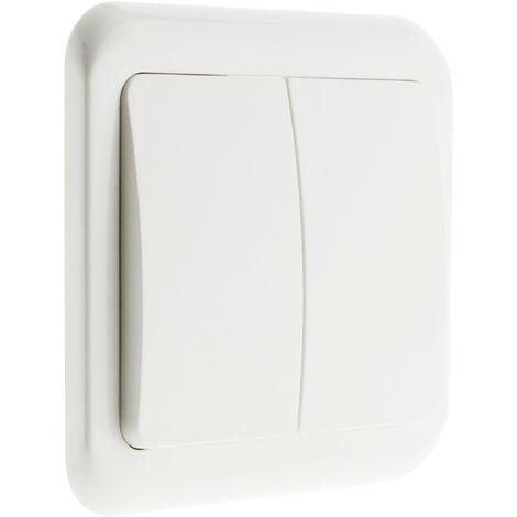 Interruptor/conmutador doble empotrable - Antaria