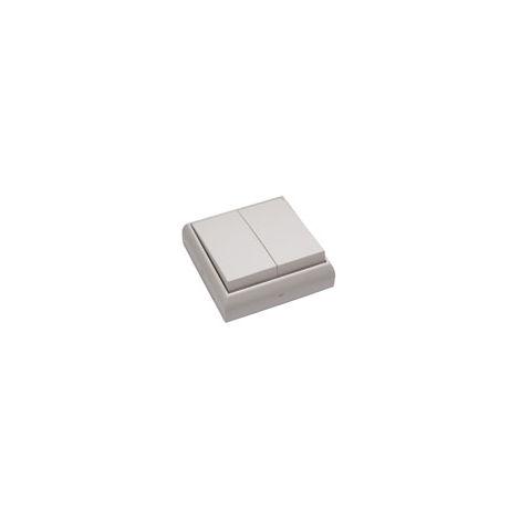 Interruptor - conmutador doble empotrable y superficie blanco BF-25 (Bricofontini 25 302 05 2)