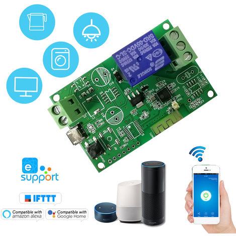 Interruptor de 5V / 12V / 220V Wifi, interruptor remoto inalambrico Modulo de rele, para IOS control androide / APP