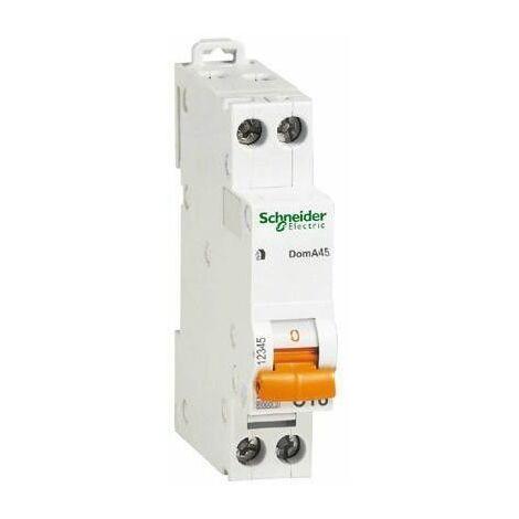 Interruptor de circuito-Schneider 1P+N 10A 4.5 KA C 1 formulario de DOMA45C10