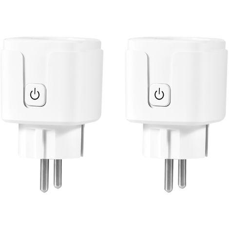 Interruptor de Control de adaptador de control inalambrico Wi-Fi del enchufe SmartPlug zocalo RC PowerOutlet voz, 2pcs