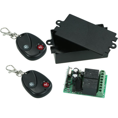 Interruptor de control remoto de rel¨¦ universal,10A, 433Mhz, DC12V, 2CH