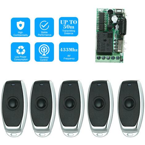 Interruptor de control remoto de RF, modulo receptor de rel¨¦, 433Mhz, DC12V, 1CH