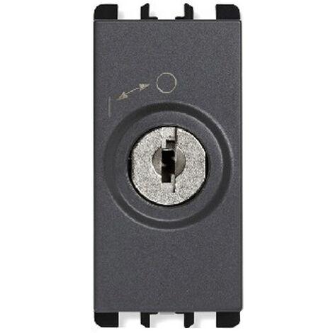 Interruptor de la llave de Urmet Simon Nea 2P con las teclas de antracita 10142