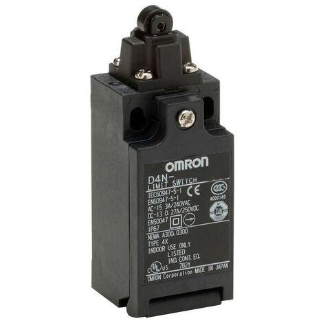 Interruptor de límite de Omron pulsador y la rueda de plástico en el NA+NC D4N1132-17012000