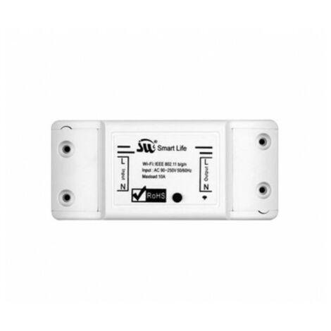 Interruptor de luz WiFi inteligente con interruptor programable compatible alexa o hombre google