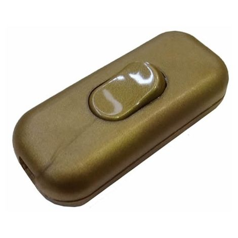 Interruptor de paso dorado 2A 250V EDM 45023