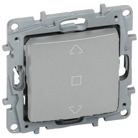 Interruptor de persiana 3 posiciones Legrand NILOE 665311 Aluminio