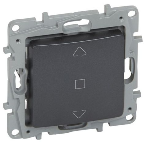 Interruptor de persiana 3 posiciones Legrand NILOE 665411 Antracita
